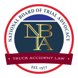 Truck Accident Lawyer Badge